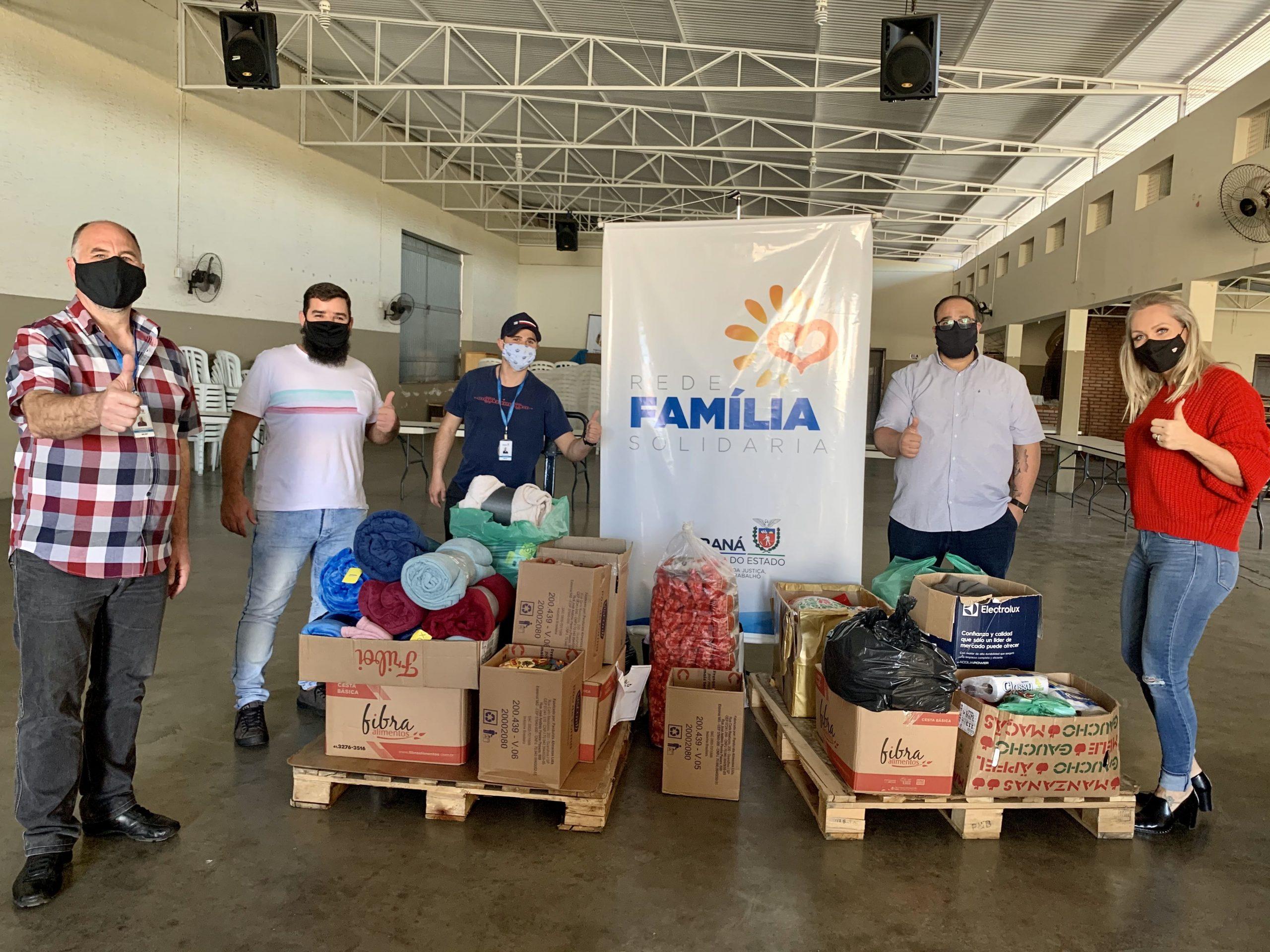 Luto Curitiba entrega donativos à Rede Família Solidária
